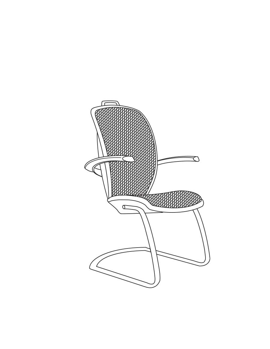 Xten waiting, conference chair by AresLine, Pininfarina